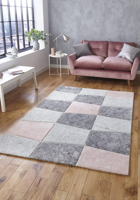 Brooklyn 22192 Grey.Rose _9 Rug