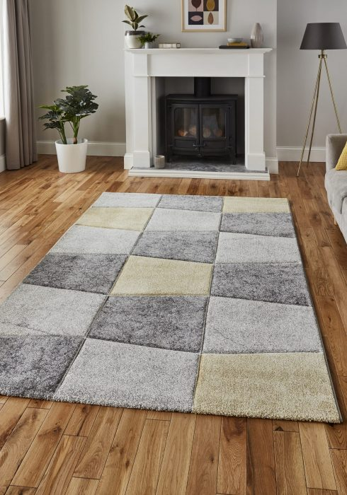 Brooklyn 22192 Grey.Yellow _9 Rug