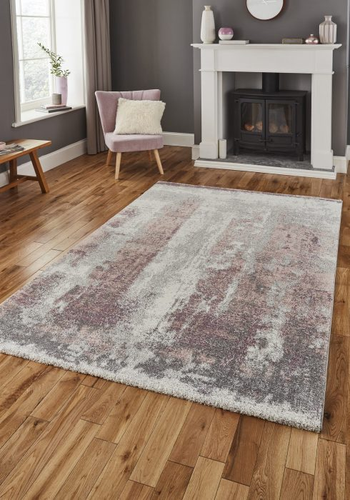 Brooklyn 8595 Grey.Rose _9 Rug