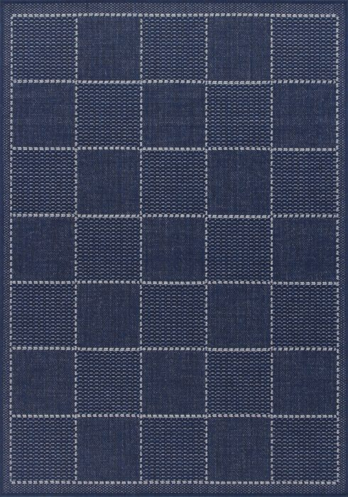Checked Flatweave Blue_Overhead Rug