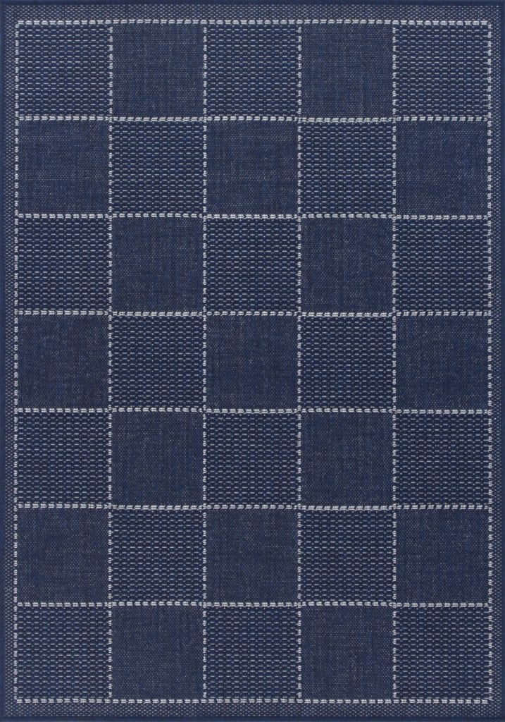 Checked Flatweave Rug By Oriental Weavers Colour Blue