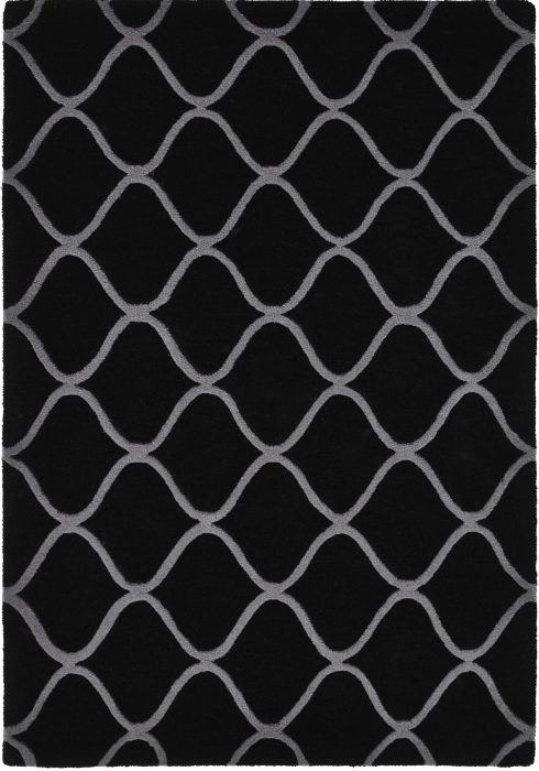 Elements Rug by Think Rugs in Black Colour and EL-65 Design; hand-tufted with the highest quality wool