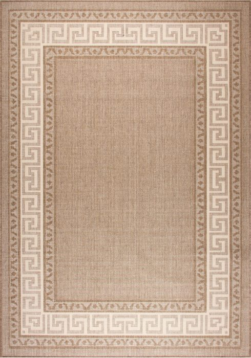 Greek Key Flatweave Rug by Oriental Weavers in Brown Colour is durable and lasting and has an anti-slip gel backing