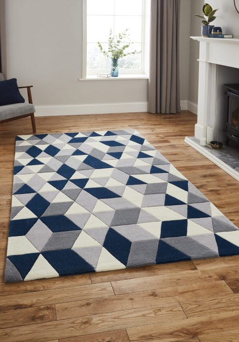 Hong Kong 3653 Grey.Navy _9 Rug