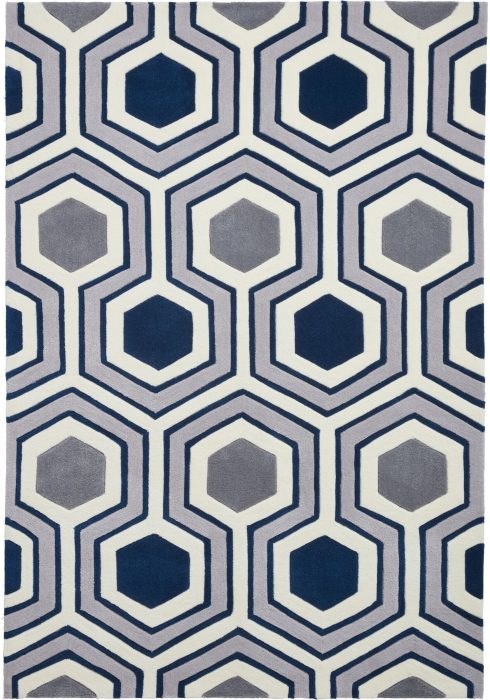 Hong Kong 3661 Grey.Navy _2 Rug
