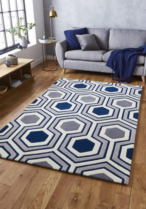Hong Kong 3661 Grey.Navy _9 Rug