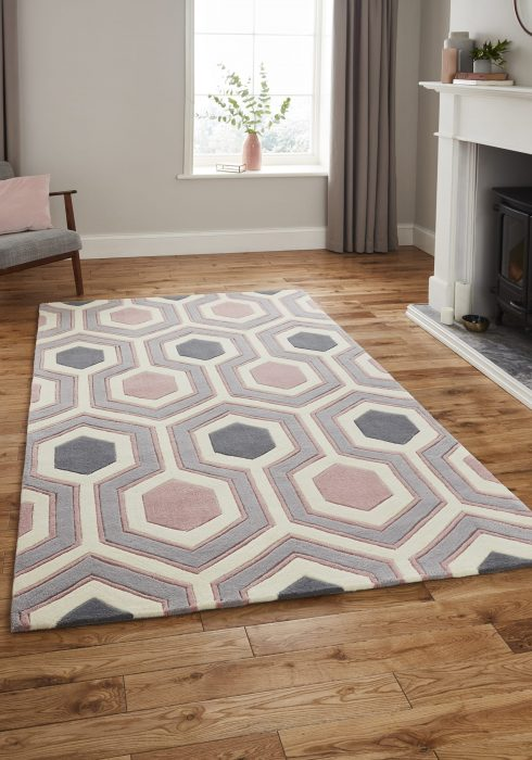 Hong Kong 3661 Grey.Rose _9 Rug