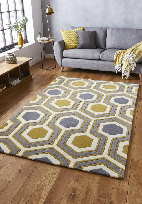 Hong Kong 3661 Grey.Yellow _9 Rug