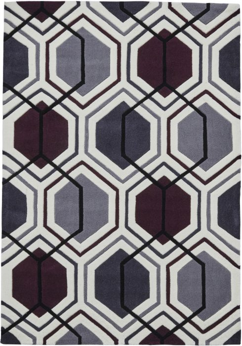 Hong Kong 7526 Cream.Dark Purple _2 Rug