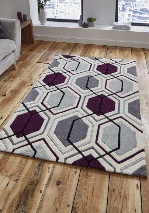 Hong Kong 7526 Cream.Dark Purple _9 Rug