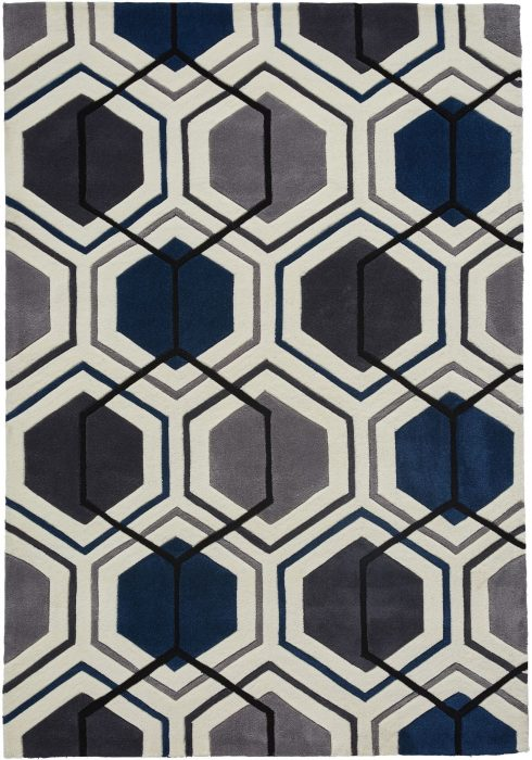 Hong Kong Rug by Think Rugs in 7526 Design; composed of a geometric design in a variety of stylish on-trend colours