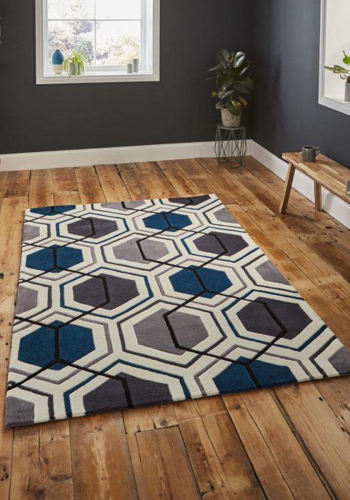 Hong Kong 7526 Grey.Navy _9 Rug