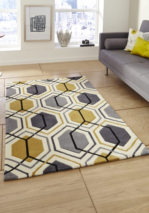 Hong Kong 7526 Grey.Yellow _9 Rug