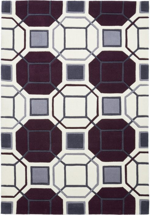 Hong Kong 9238 Ivory.Purple _2 Rug