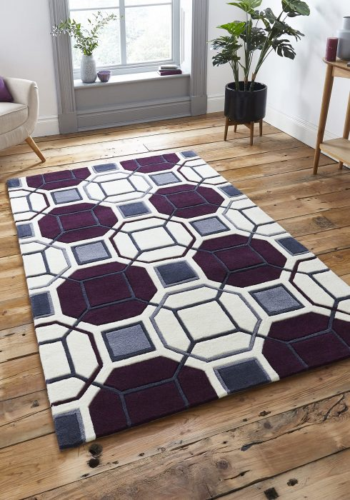 Hong Kong 9238 Ivory.Purple _9 Rug