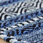 Kelim Blue Rug Detail