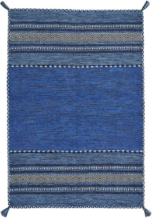 Kelim Rug by Oriental Weavers in Blue Colour; made in warm natural tones and is great for casual and formal rooms