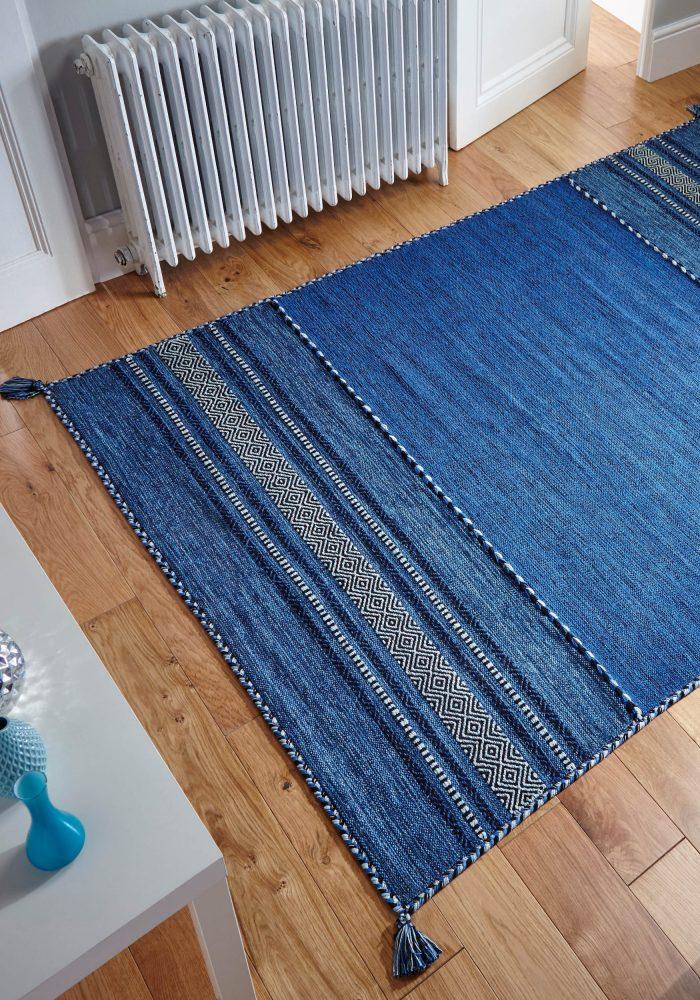 Kelim Blue Rug Roomshot