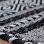 Kelim Charcoal Rug Detail