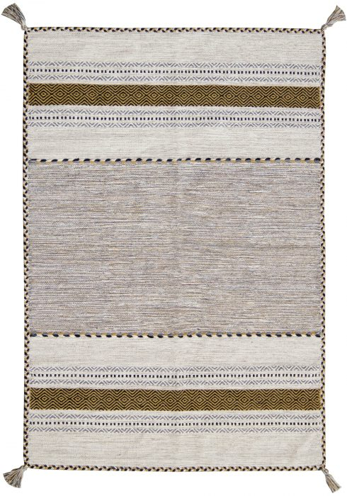 Kelim Rug by Oriental Weavers in Ochre Colour; made in warm natural tones and is great for casual and formal rooms