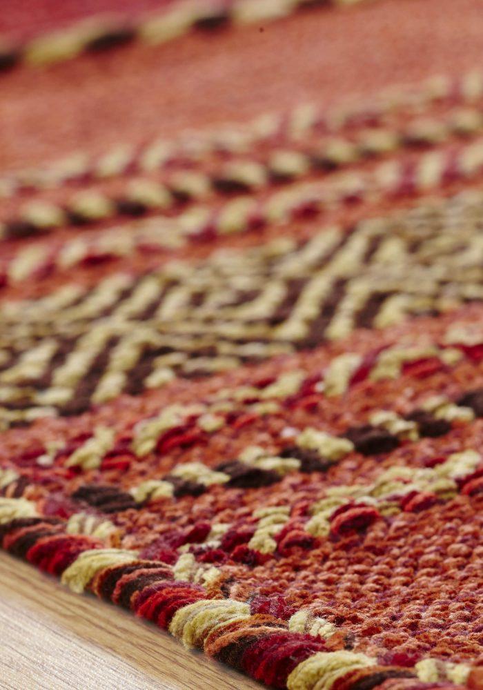 Kelim Red Rug Detail