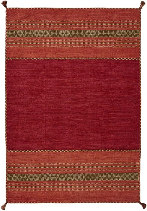 Kelim Rug by Oriental Weavers in Red Colour; made in warm natural tones and is great for casual and formal rooms