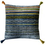 Kelim Stripe Blue Cushion