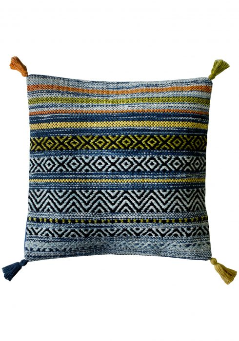 Kelim Stripe Blue Cushion