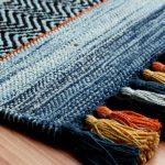 Kelim Stripe Blue Rug Detail