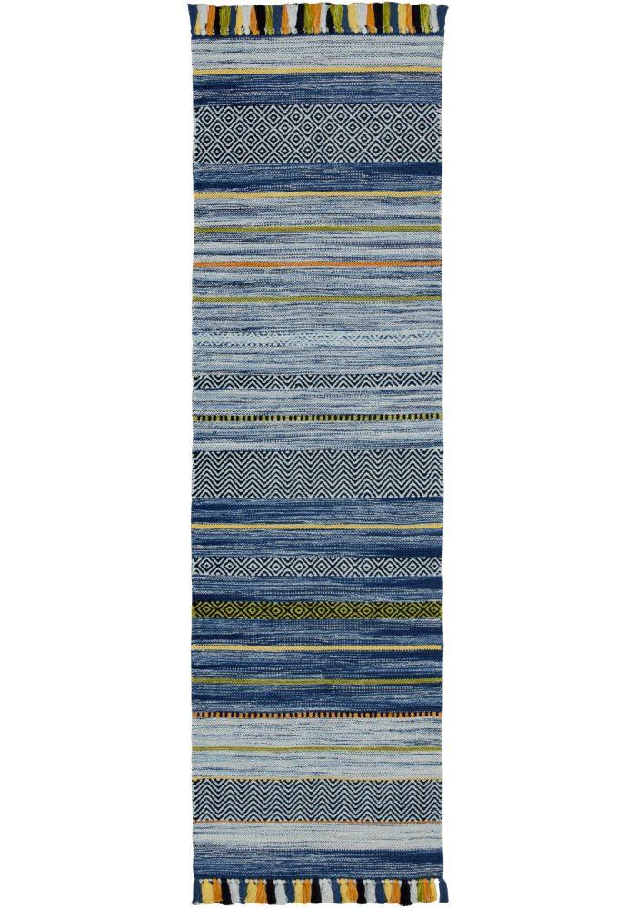 Kelim Stripe Blue Runner