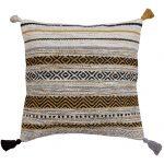 Kelim Stripe Ochre Cushion
