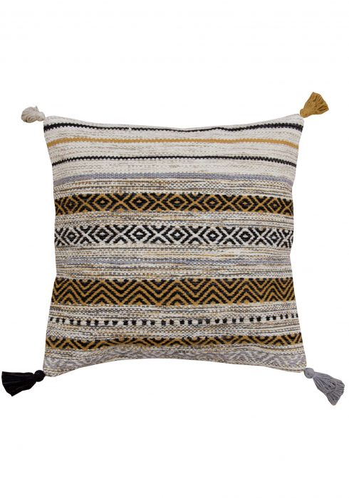 Kelim Stripe Ochre Cushion