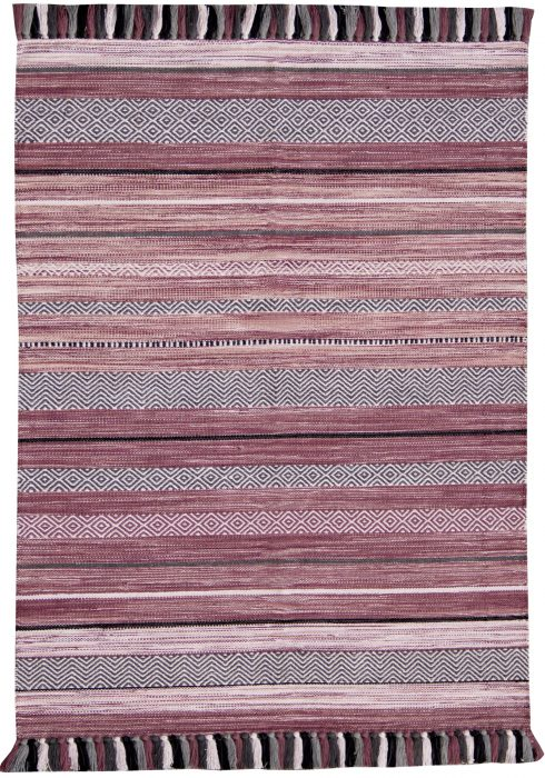 Kelim Rug by Oriental Weavers in Stripe Pink Colour; made in warm natural tones and is great for casual and formal rooms