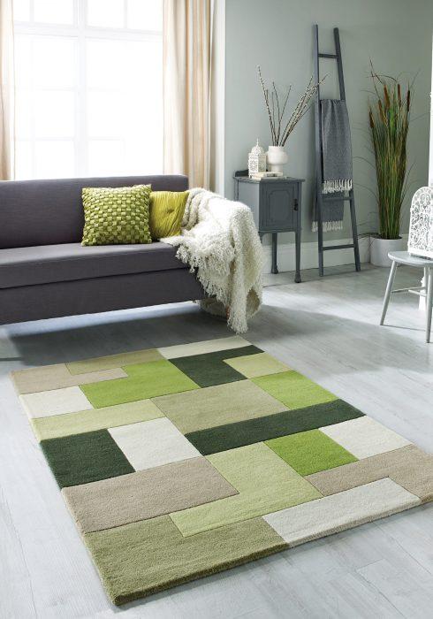 Lexus Green_roomshot rug