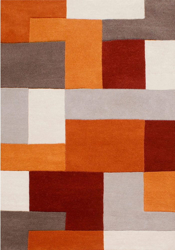 Lexus Rug by Oriental Weavers in Terra Colour; hand-loomed and hand-carved in India and is constructed using wool