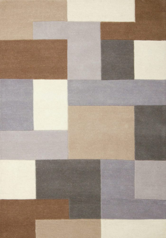 Lexus Rug by Oriental Weavers in Neutral Colour; hand-loomed and hand-carved in India and is constructed using wool