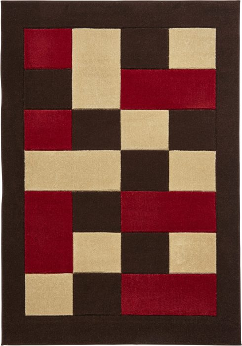 Matrix MT04 Brown Red Rug