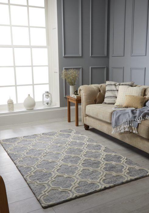 Medina Grey Rug Roomshot