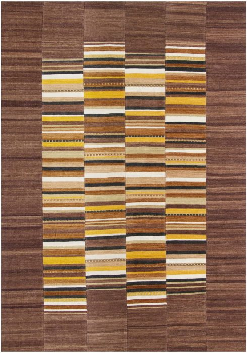 Navajo Rug by Oriental Weavers in Stripe Multi Colour use Argentinian wool and cotton to create each patch and stripe