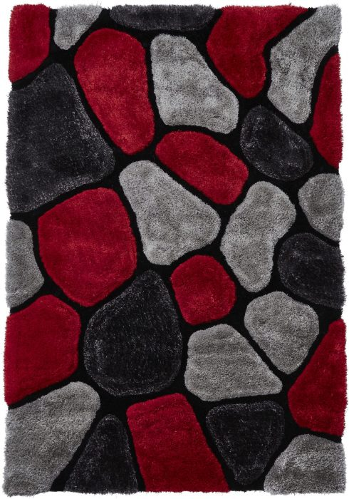 Noble House NH5858 Grey Red Rug