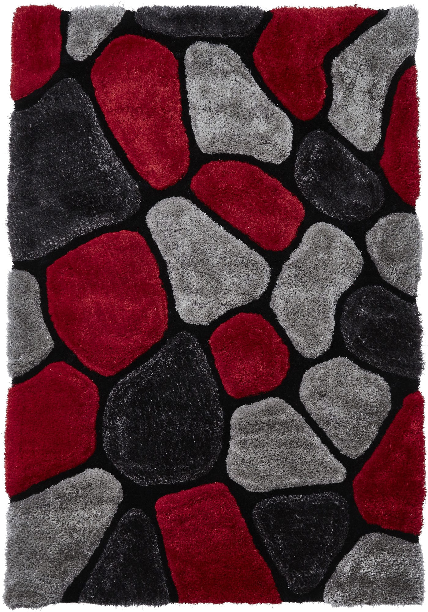 Le House Rug Colour 5858 Grey Red By