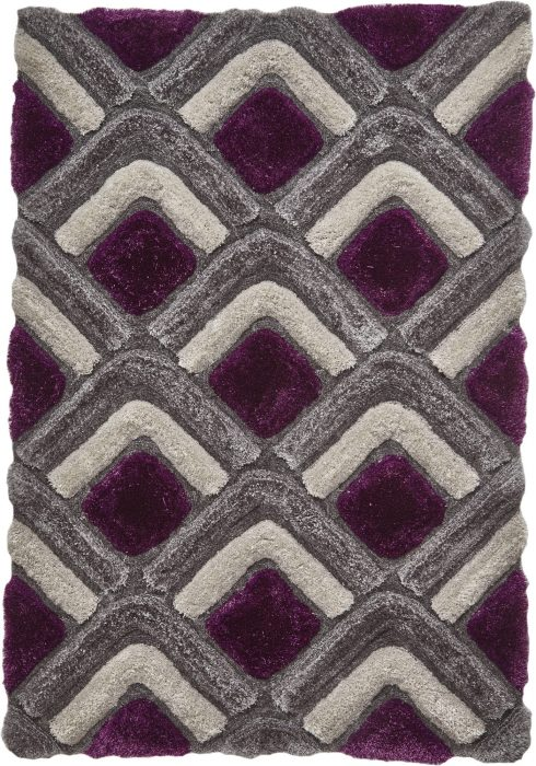 Noble House NH8199 Grey Purple Rug