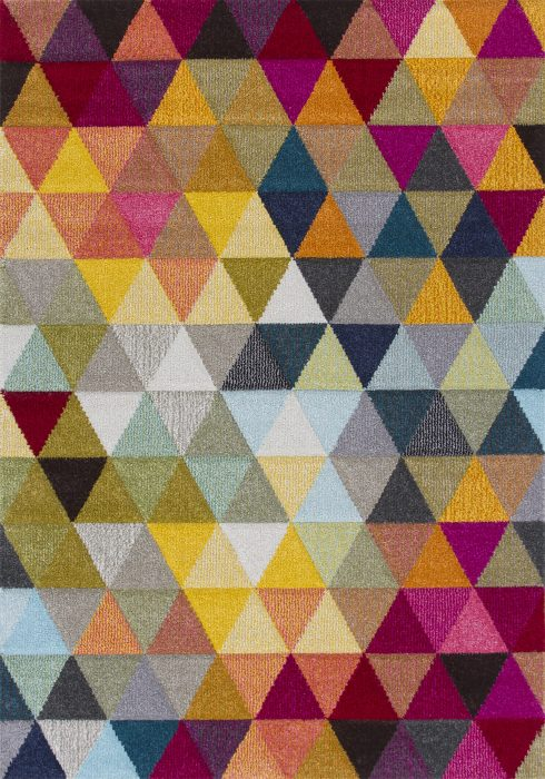 Piccadilly Rug by Oriental Weavers in 526X Design features geometric patterns in bright fashionable colours