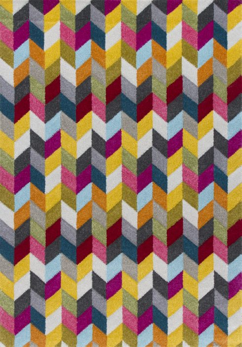 Piccadilly Rug by Oriental Weavers in 564Y Design features geometric patterns in bright fashionable colours