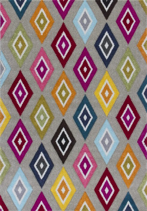 Piccadilly Rug by Oriental Weavers in 5996E Design features geometric patterns in bright fashionable colours