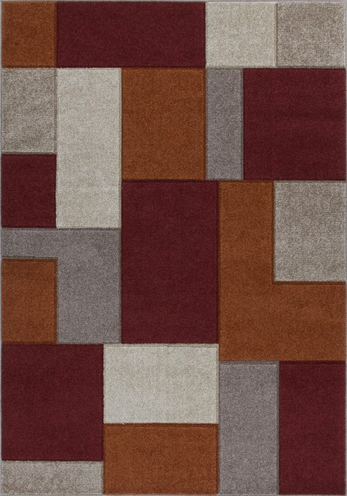 Portland Rug by Oriental Weavers in 8425R Design is machine woven with a hardwearing frisee pile
