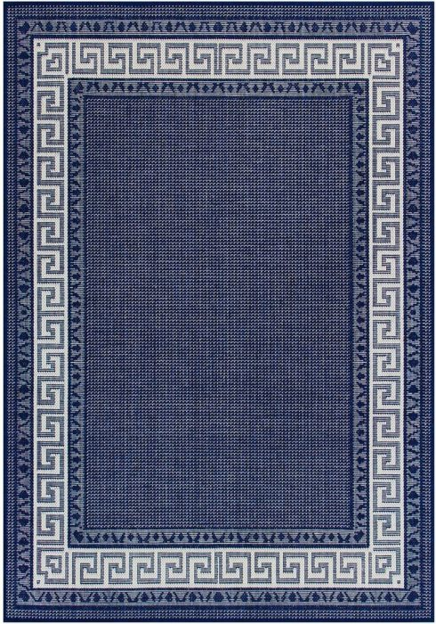 Greek Key Flatweave Rug by Oriental Weavers in Blue Colour is durable and lasting and has an anti-slip gel backing