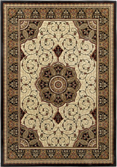 Heritage 4400 Black.Cream _2 Rug