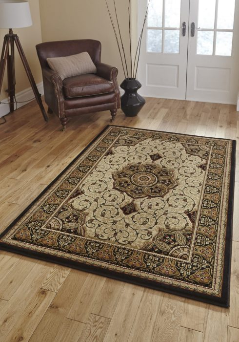Heritage 4400 Black.Cream _9 Rug