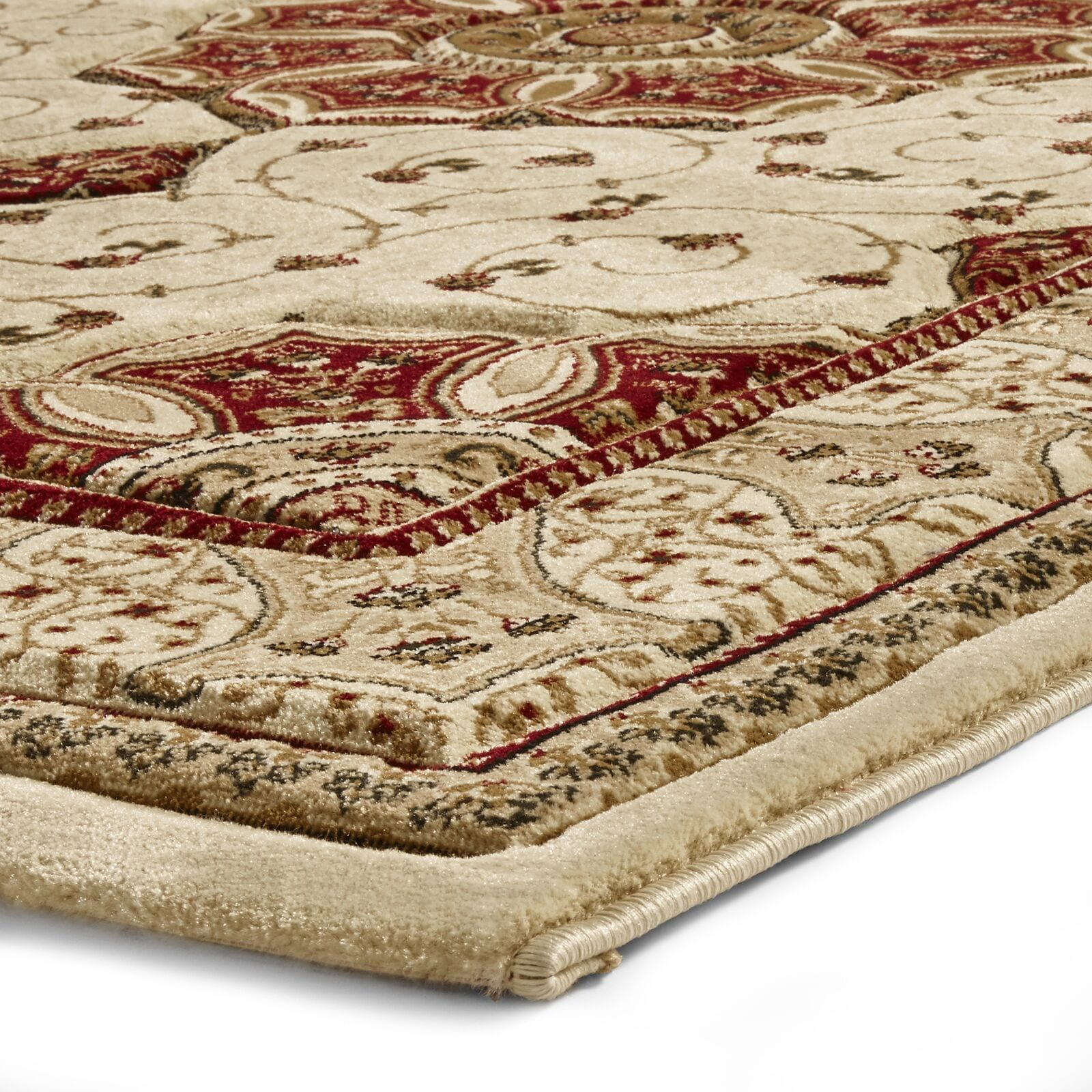 Heritage Rug Colour 4400 Cream Red By Think Rugs Rugs Uk
